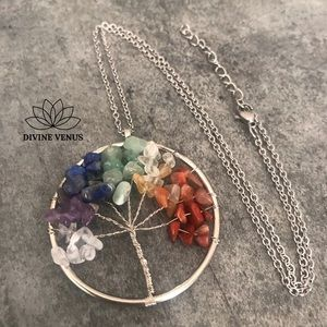 Chakra Tree of Life Pendant Necklace